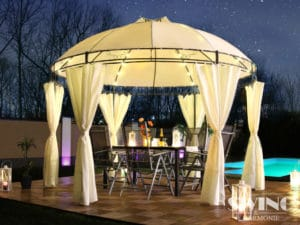 Luxus Pavillon als Gartenmöbel