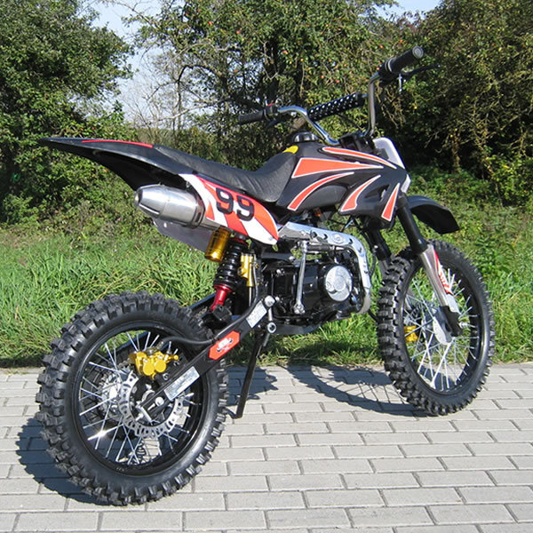 dirt bike 125 ccm 17 14 r der cross vollcross pocketbike. Black Bedroom Furniture Sets. Home Design Ideas