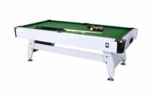 Billardtisch 7f mit 214 cm x 122 cm und grüner Spielfäche