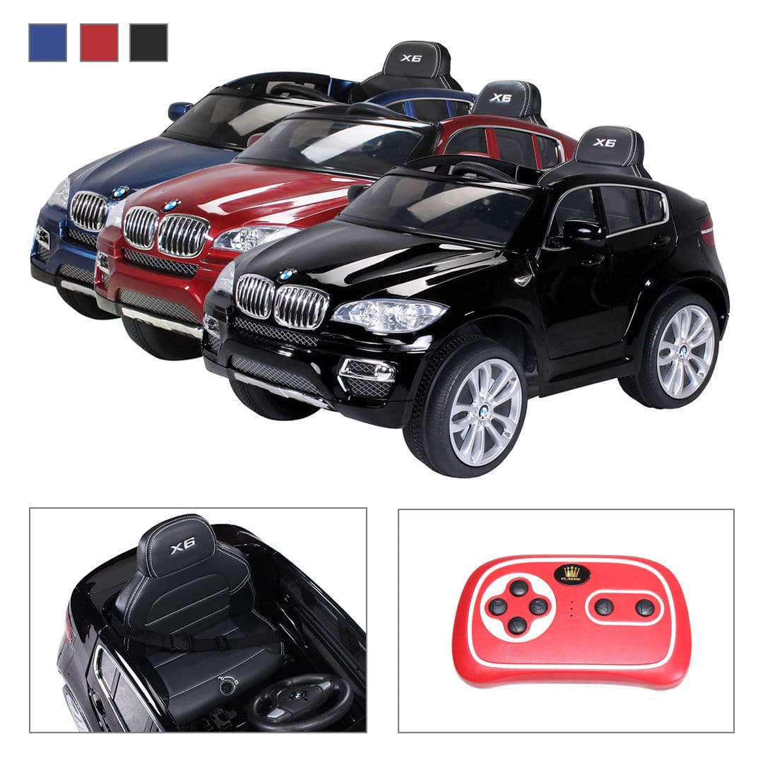 kinder elektroauto bmw x6 lizenziert ledersitz 2x 45 watt motor der shop am ring. Black Bedroom Furniture Sets. Home Design Ideas