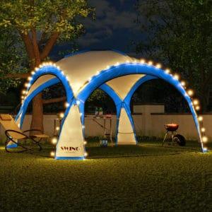 Pavillon mit Moskitonetz und LED`s für Events